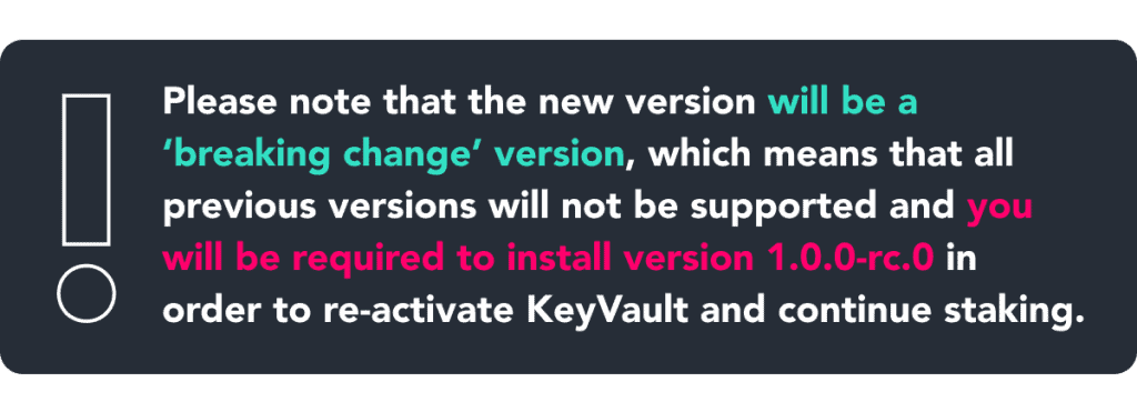 BREAKING CHANGES - Blox Staking Release Candidate (Version 1.0.0-rc.0) Live Dec 6